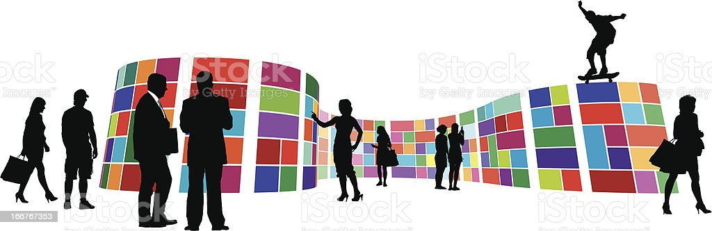 Gallery in a metro style vector art illustration