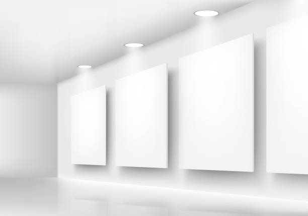 Royalty free empty art gallery clip art vector images gallery of empty frames on wall with lighting vector art illustration sciox Images