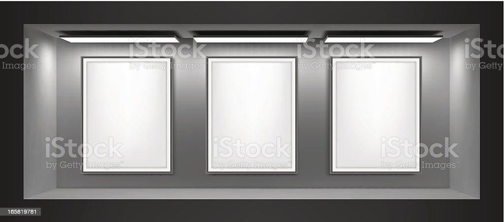 Gallery vector art illustration
