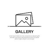 istock Gallery Vector Line Icon - Simple Thin Line Icon, Premium Quality Design Element 1148082288