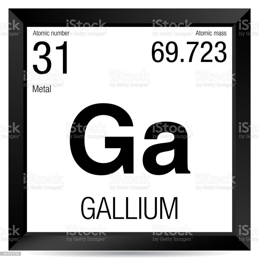 Gallium symbol element number 31 of the periodic table of the element number 31 of the periodic table of the elements chemistry royalty urtaz Image collections