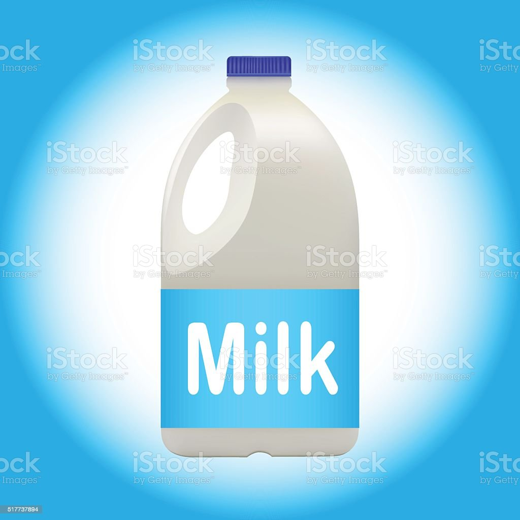 Gallon of Milk vector art illustration