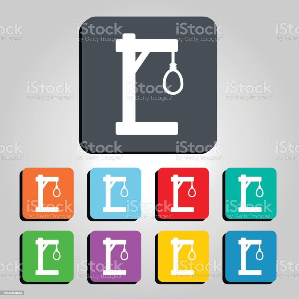 Gallows And Noose Vector Icon Illustration Stock Vector Art More
