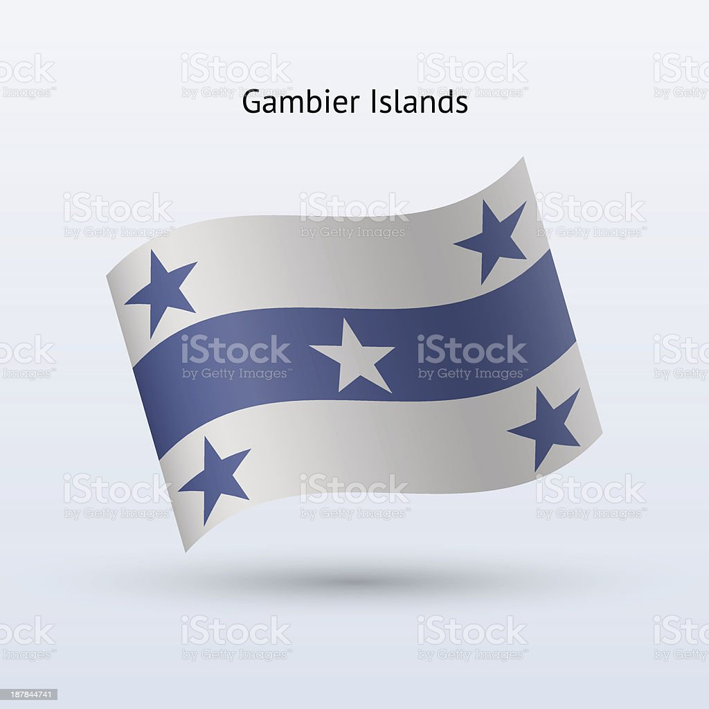 Gambier Islands Flag royalty-free gambier islands flag stock vector art & more images of clip art