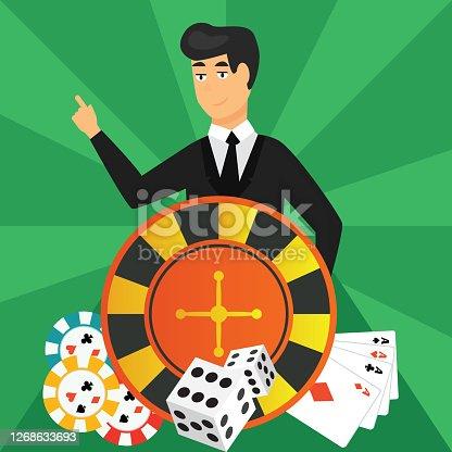 Gambler, Casino icons set vector illustration design