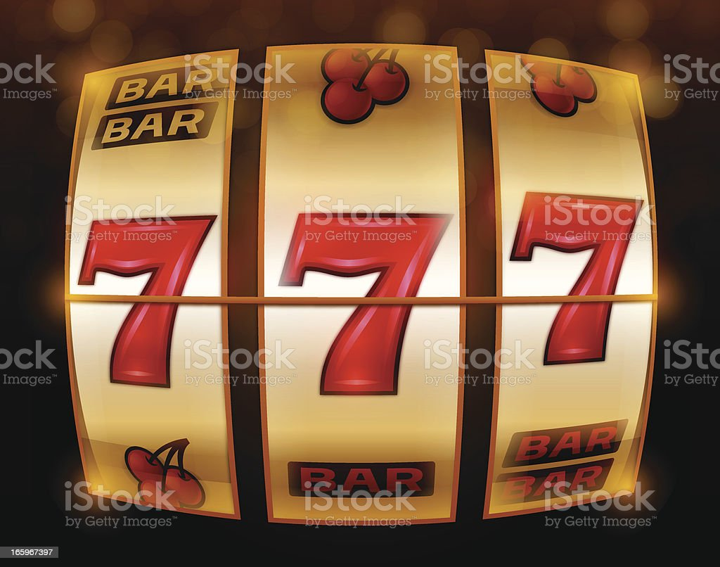 Gambling 777 Slot Machine vector art illustration