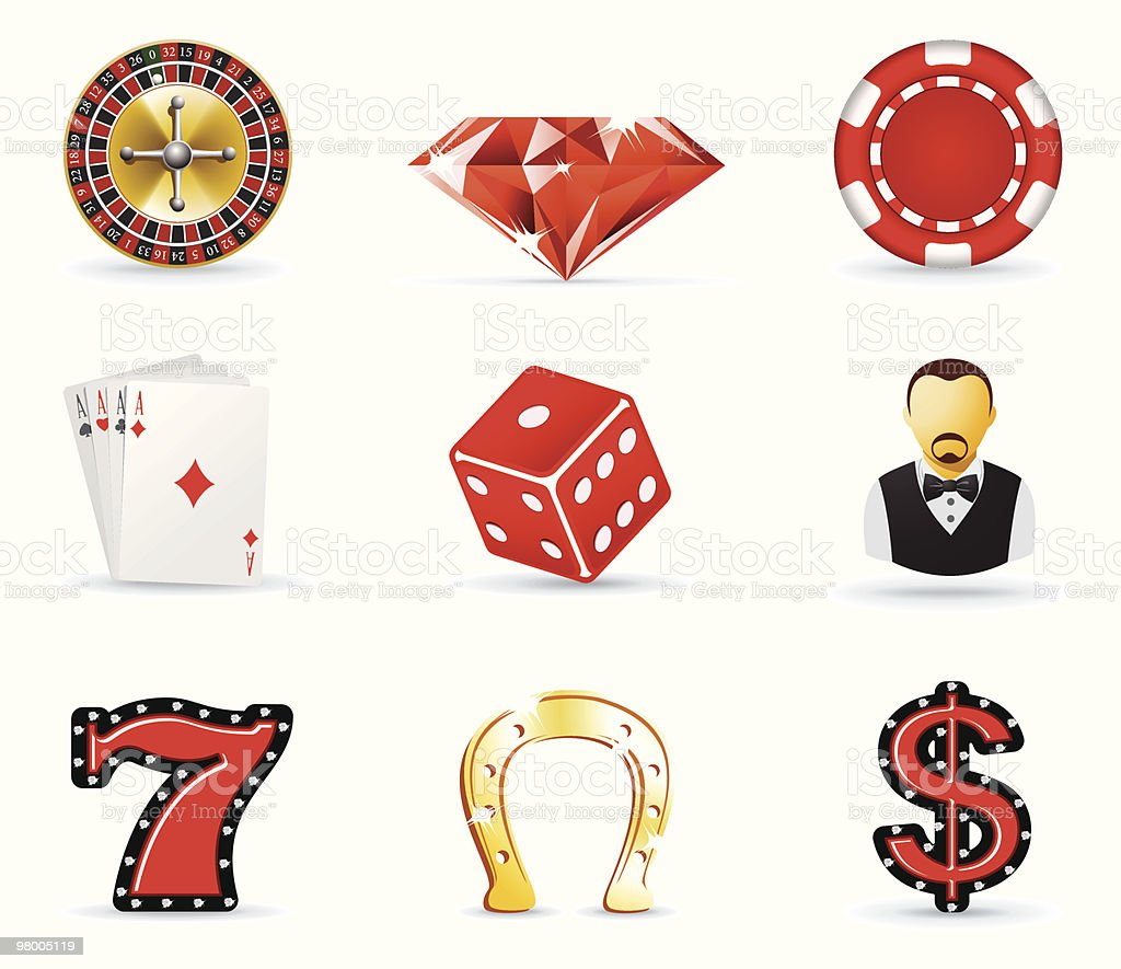 Gambling and casino icons royalty-free gambling and casino icons stock vector art & more images of casino worker