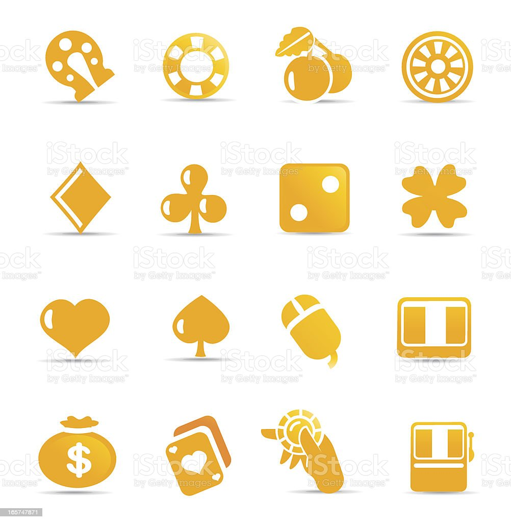 Gambling and Gaming Icons vector art illustration
