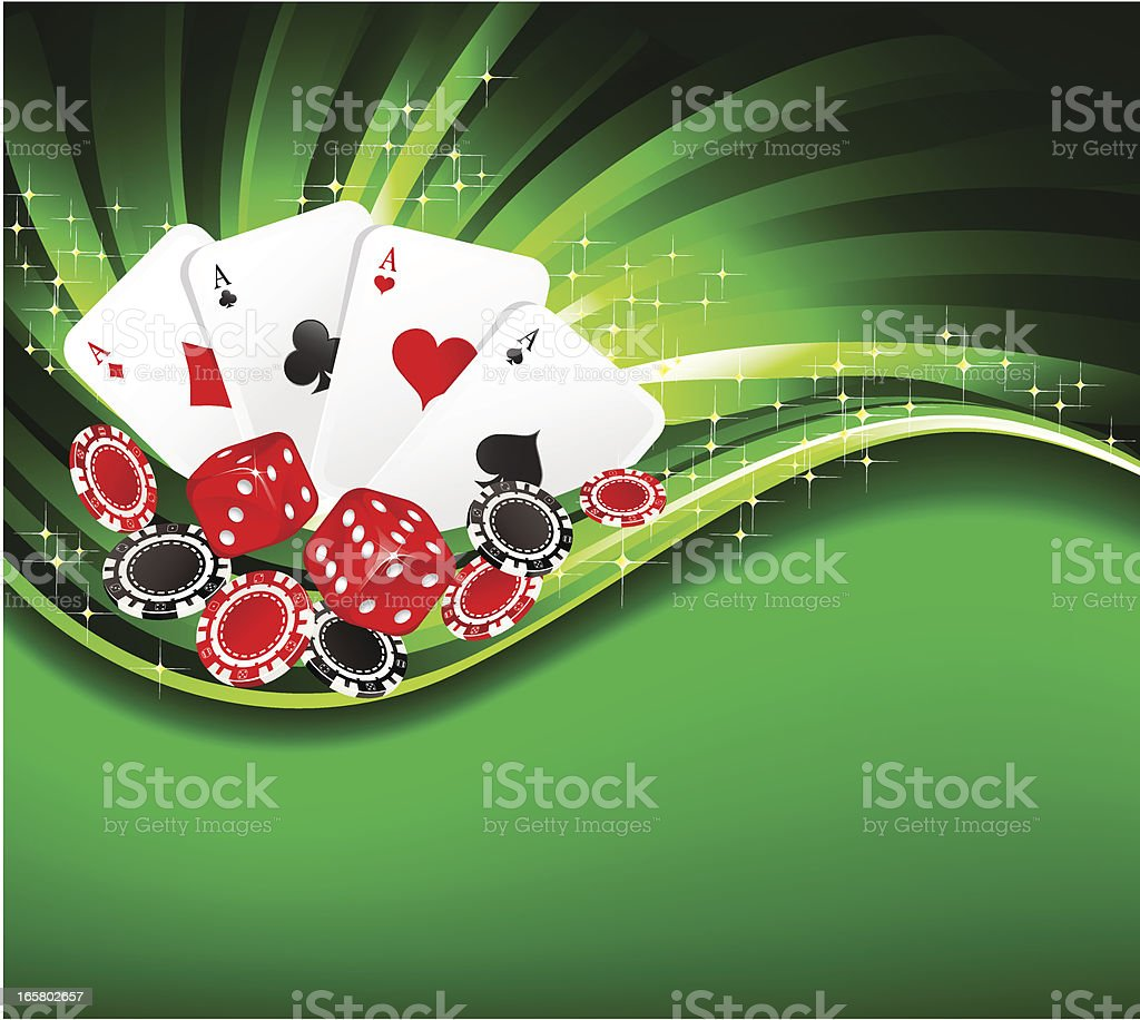 Gambling background with casino elements royalty-free stock vector art