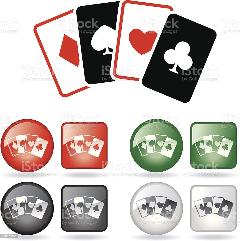 Gambling - Cards royalty-free gambling cards stock vector art & more images of black color