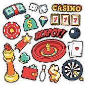 Gambling Casino Badges, Patches, Stickers for Prints