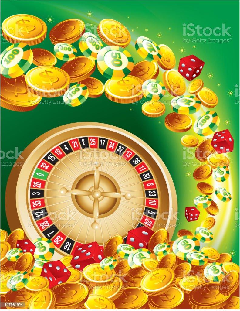 Gambling casino royalty-free stock vector art
