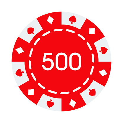 Gambling Chip Icon on Transparent Background