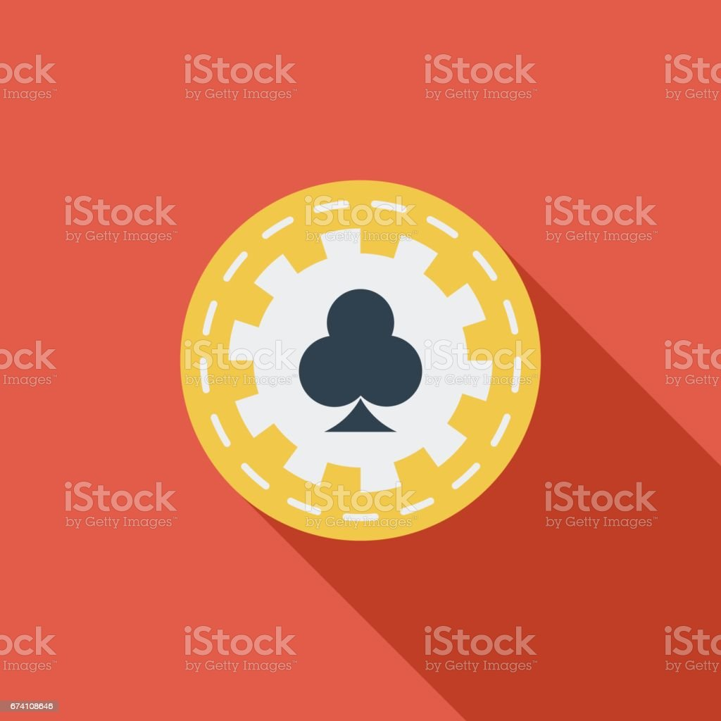 Gambling chips flat icon. royalty-free gambling chips flat icon stock vector art & more images of clip art