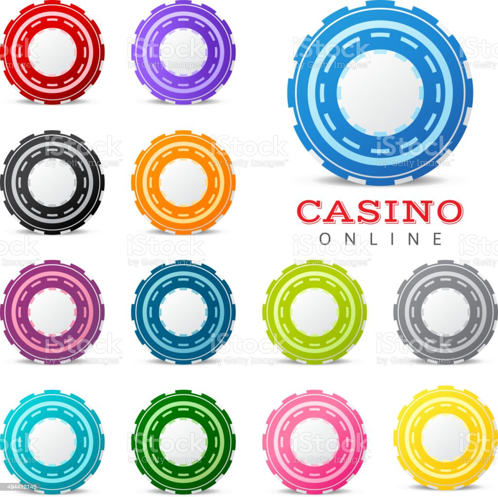 gambling chips royalty-free stock vector art