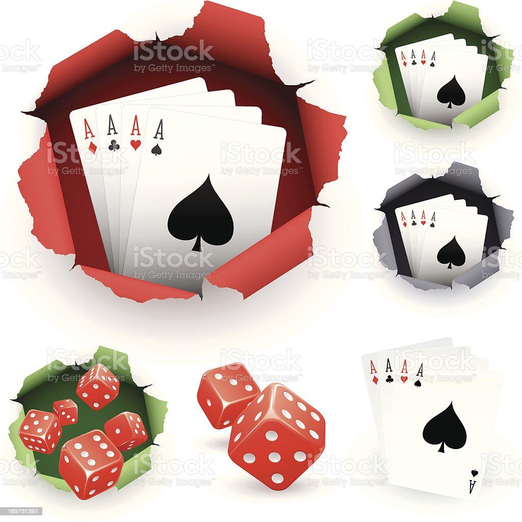 Gambling designs royalty-free stock vector art