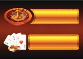 Gambling elements with banners. High Resolution JPG,CS3 AI and Illustrator 0.8 EPS included.