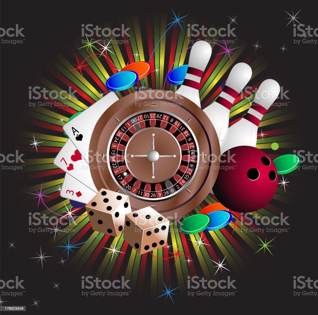 Gambling equipment royalty-free stock vector art