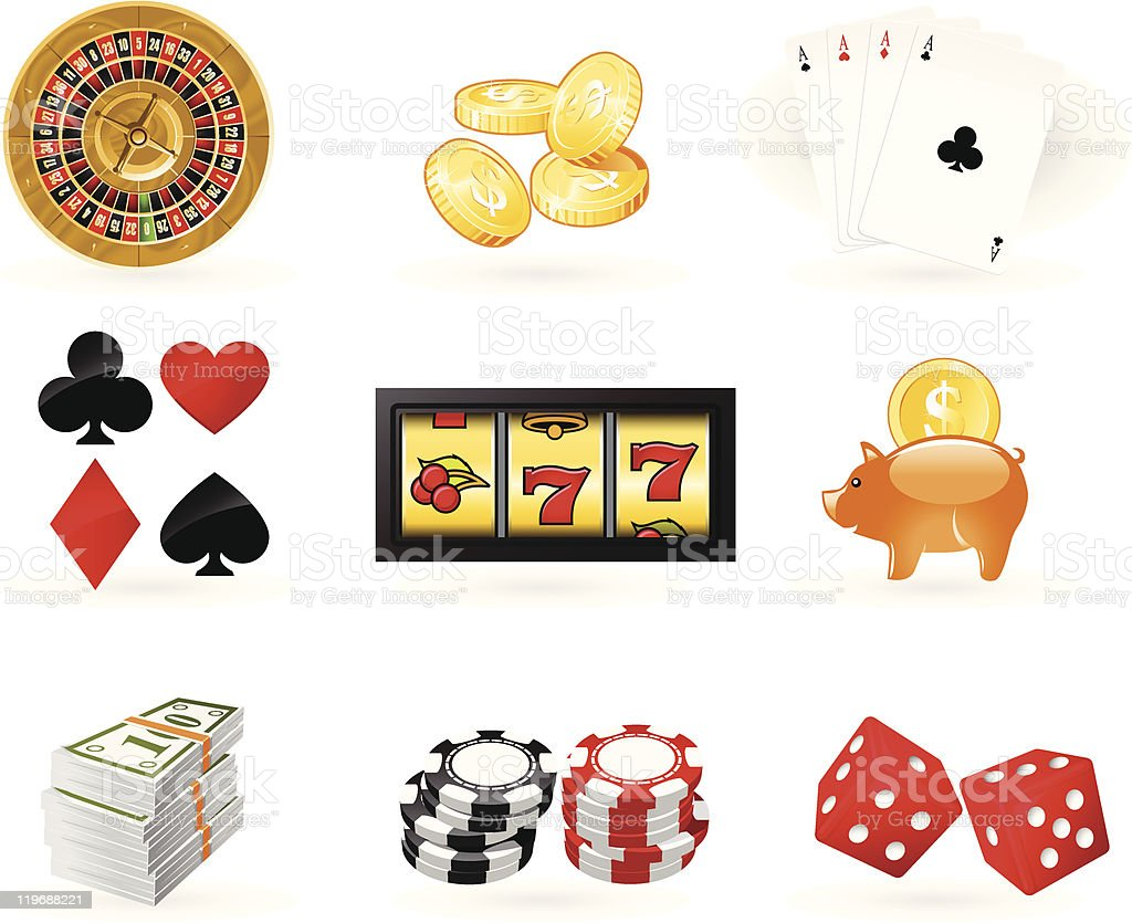 Gambling Icon set royalty-free stock vector art