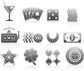 Gambling Icons Silhouette Series Set
