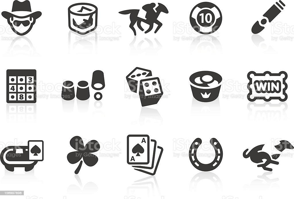 Gambling icons vector art illustration