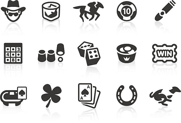 Gambling icons Monochromatic gambling related vector icons for your design and application. Raw style. Files included: vector EPS, JPG, PNG. cartable stock illustrations