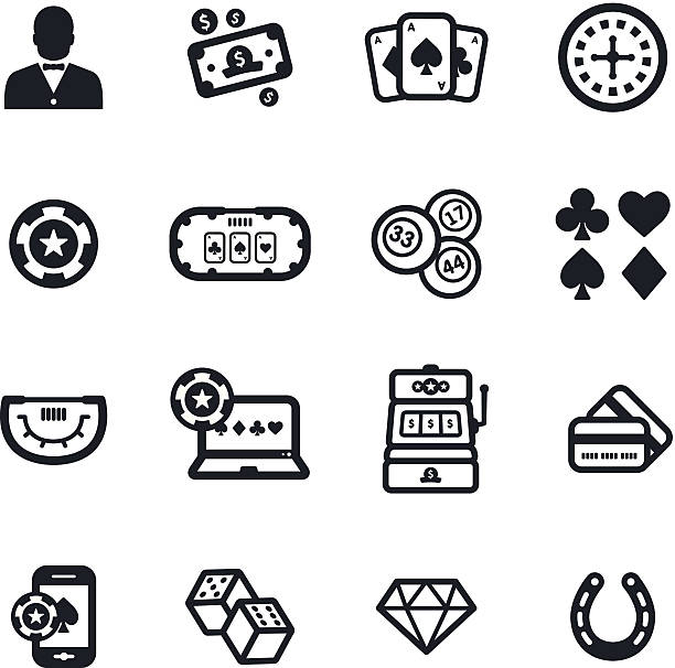 Gambling Icons  http://i1104.photobucket.com/albums/h340/Vitaliy__Kozlovskiy/black_icons_lightbox_zpsxd6vkqc8.jpg?t=1459953722  gambling stock illustrations