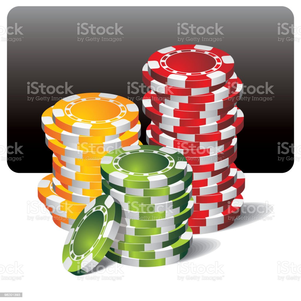 gambling illustration with poker chips royalty-free gambling illustration with poker chips stock vector art & more images of ace