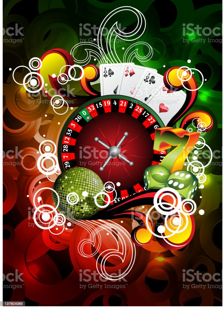 Gambling illustration with roulette royalty-free gambling illustration with roulette stock vector art & more images of ace