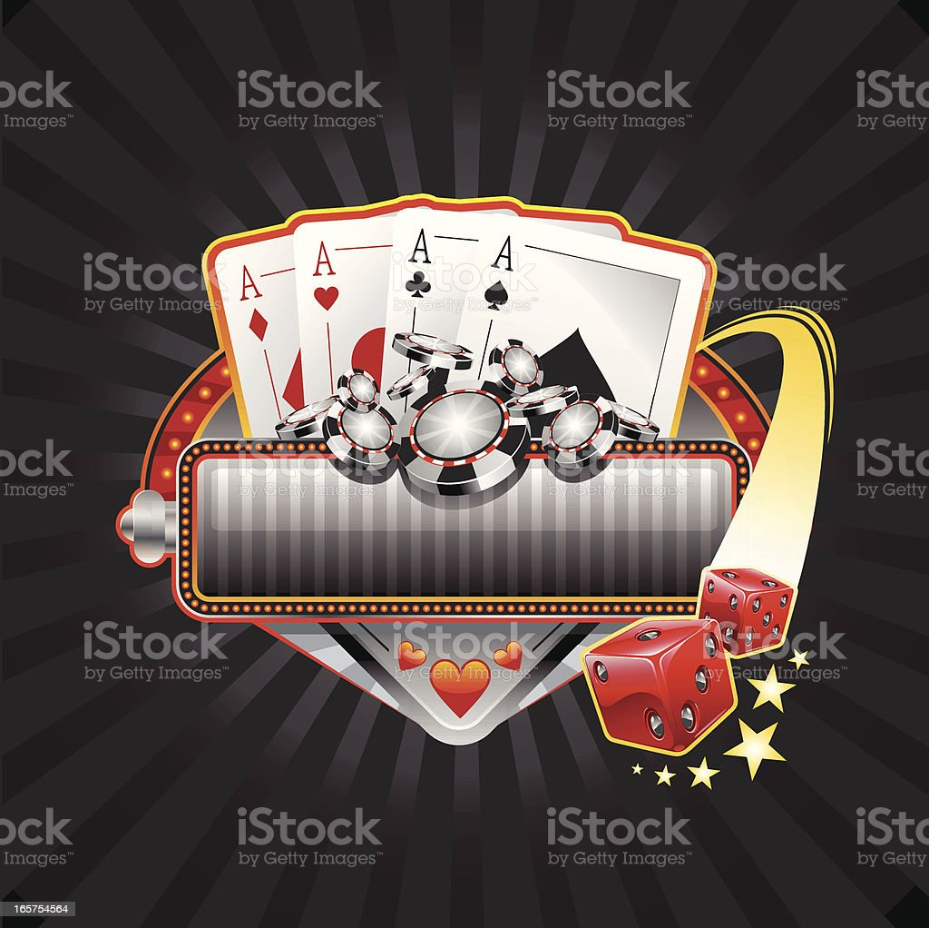 gambling pokker banner vector art illustration