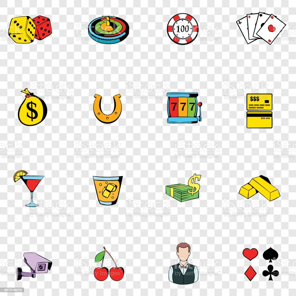 Gambling set icons royalty-free gambling set icons stock vector art & more images of ace