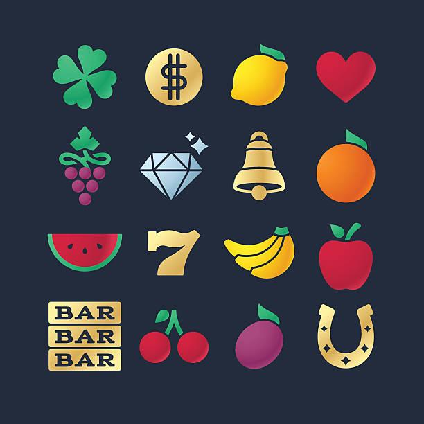 Gambling Symbols and Icons vector art illustration
