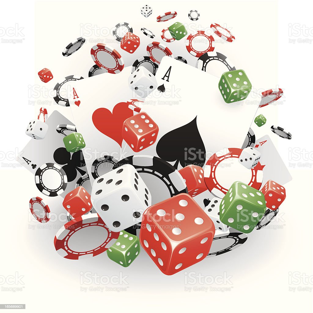 Gambling royalty-free stock vector art