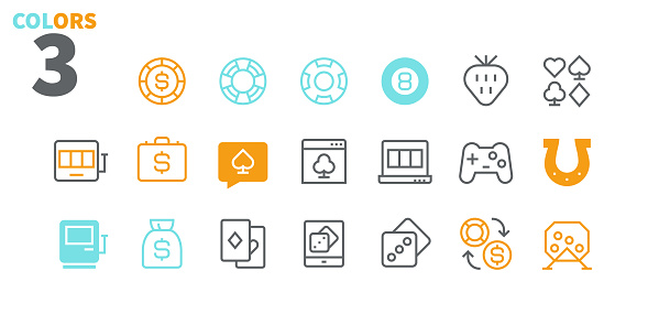 Gambling View Outlined Pixel Perfect Well-crafted Vector Thin Line Icons 48x48 Ready for 24x24 Grid for Web Graphics and Apps with Editable Stroke. Simple Minimal Pictogram Part 1-1