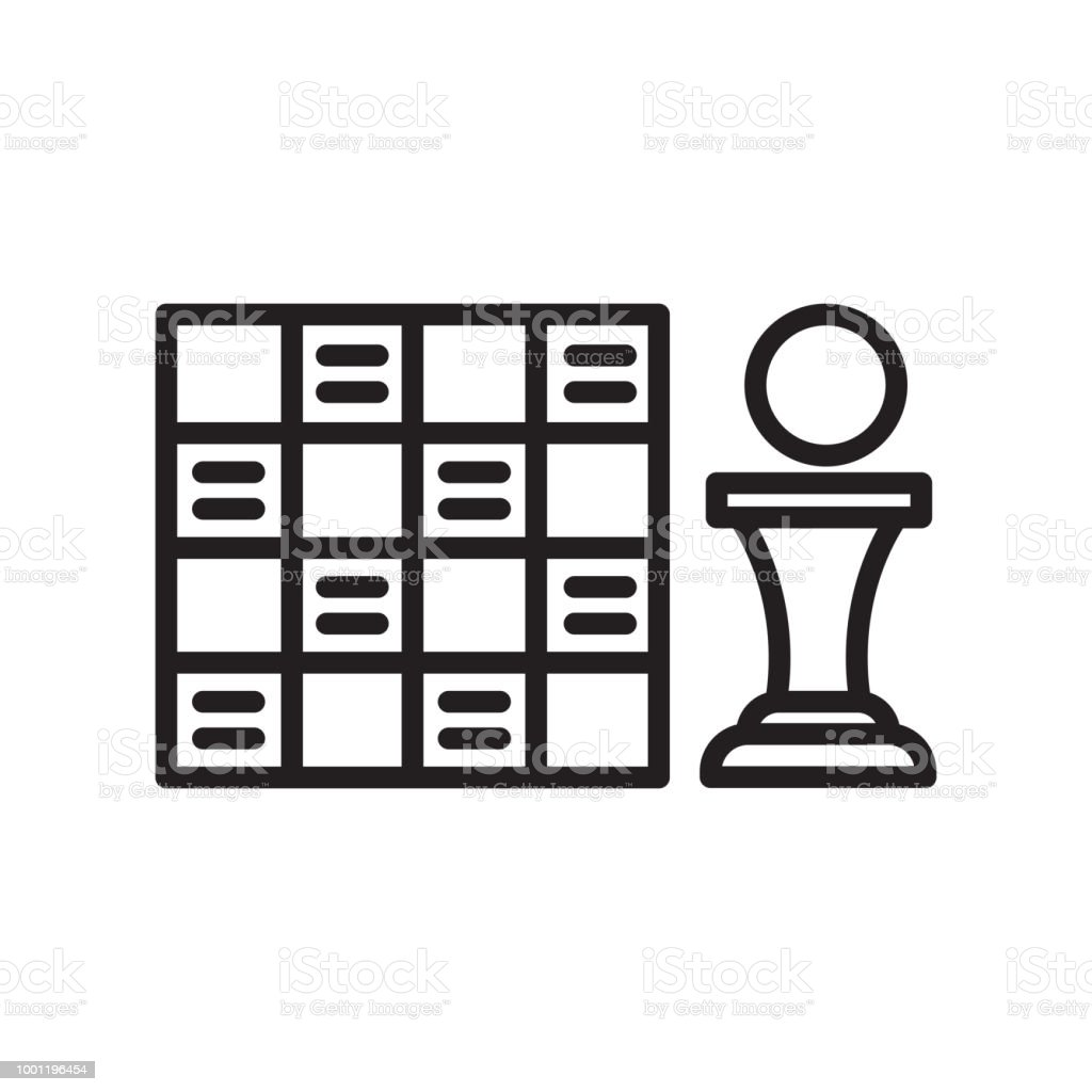 Game Board icon vector sign and symbol isolated on white background vector art illustration