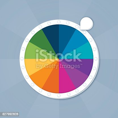 istock Game Board Spinner 627992828