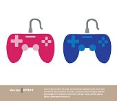 istock Game console joystick. Playstation. Login screens for websites and mobile apps. 1263617077