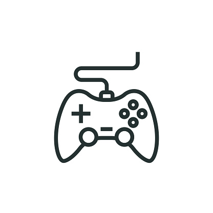 Game Console Line Icon