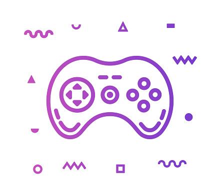 Game Control Line Style Icon Design