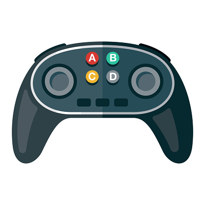 Game Controller Icon on Transparent Background