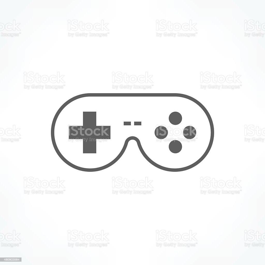 game controller icon vector art illustration