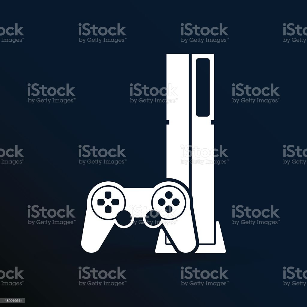 Game controller icon video gaming game electronics vector art illustration