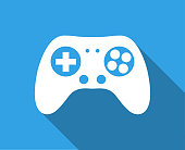 istock Game Controller With Long Shadow 1130562668