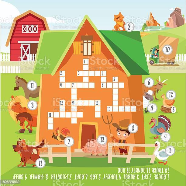 Game crossword concept with about farm animals vector id606225532?b=1&k=6&m=606225532&s=612x612&h=6xm1xog4gj805aeeczrmrb nhza6knhyjdt2zbbf6to=