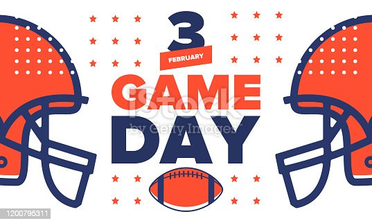 istock Game Day. American football playoff. championship game Party in United States. Final game of regular season. Professional team championship. Ball for american football. Sport poster. Vector illustration 1200795311