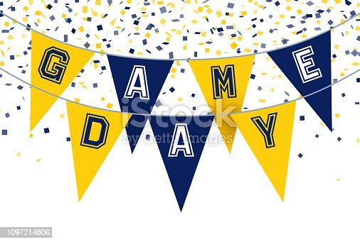 Game day sports football bunting background.