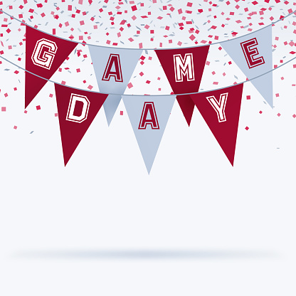Game Day Bunting Sports Celebration Background