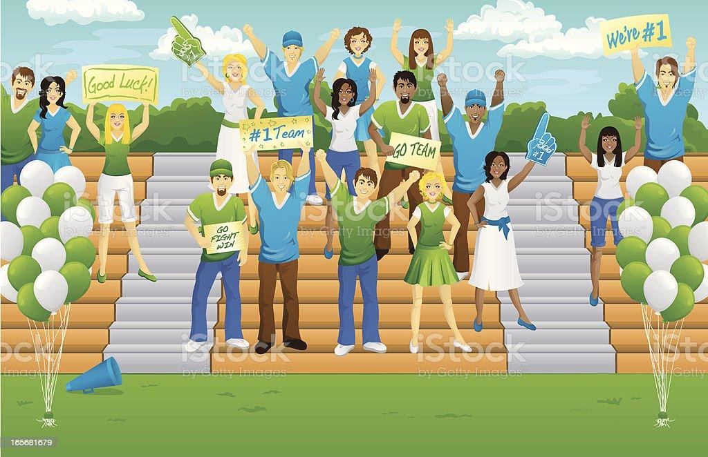 Game Day Fans vector art illustration