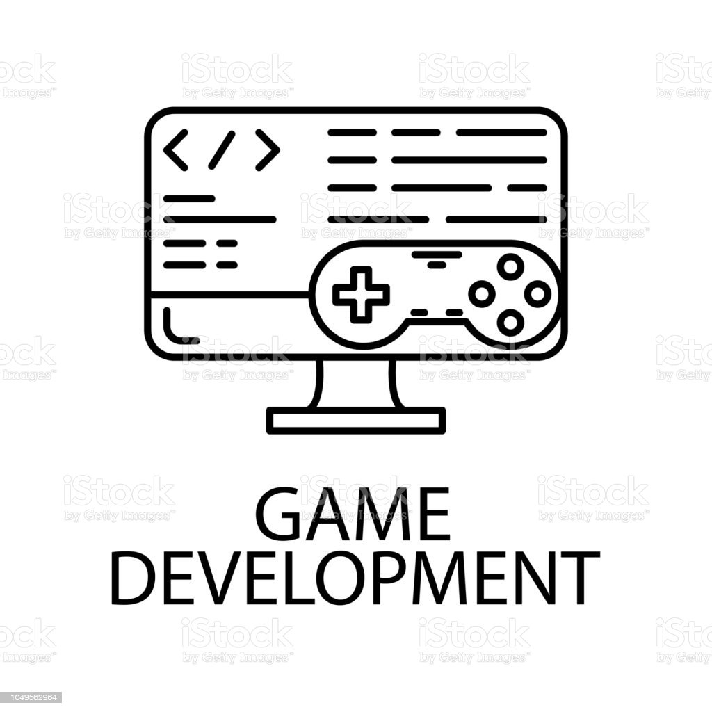 Game Development Outline Icon Element Of Gaming Outline Icon For - Game outline