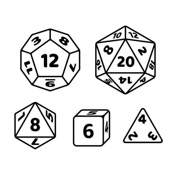 game dice set - dice stock illustrations, clip art, cartoons, & icons